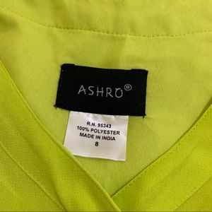 Ashro Tops - Ashro Lime Green Ruffle Poet Top Blouse 8 Medium